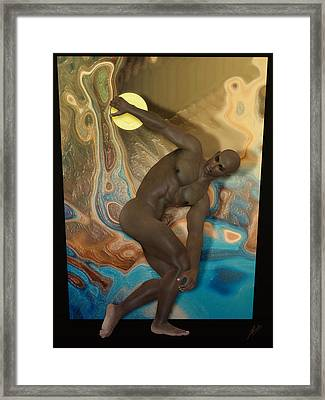 Discobolus Of Africa Framed Print by Quim Abella