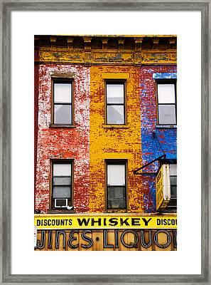 Discount Liquor Framed Print