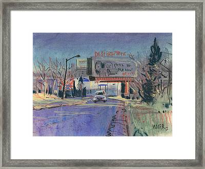 Discount Tire Framed Print by Donald Maier