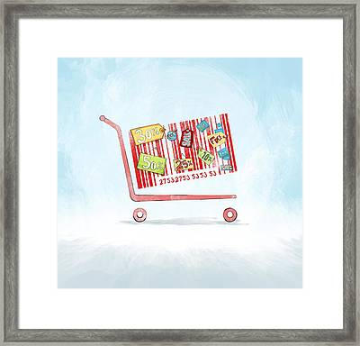 Discounted Sale Advertisement Framed Print by Fanatic Studio / Science Photo Library