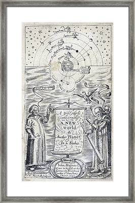 Discourse Concerning A New Planet, 1640 Framed Print by Folger Shakespeare Library