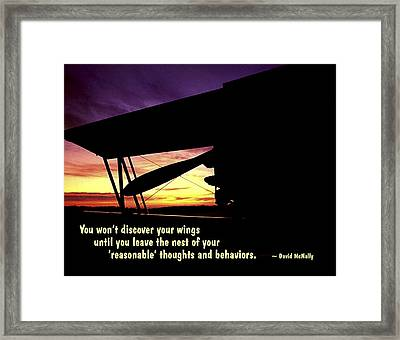Discover Your Wings Framed Print