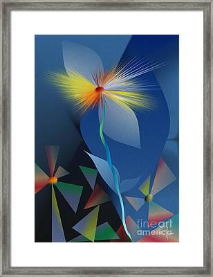 Discovered Garden Framed Print by Leo Symon