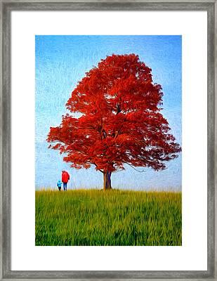 Discovering Autumn - Paint Framed Print by Steve Harrington