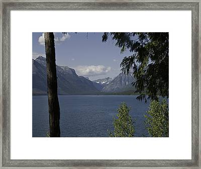 Discovering St. Mary's Lake Framed Print