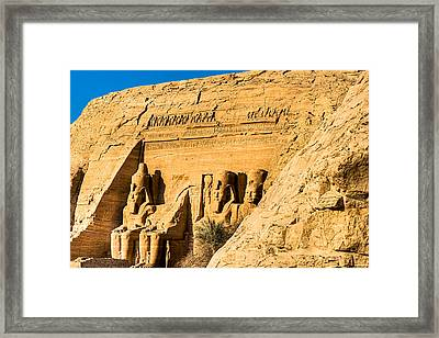 Discovering The Nubian Monuments Of Ramses II Framed Print by Mark E Tisdale