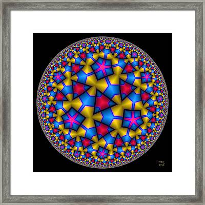 Discovery - Hyperbolic Disk Framed Print by Manny Lorenzo