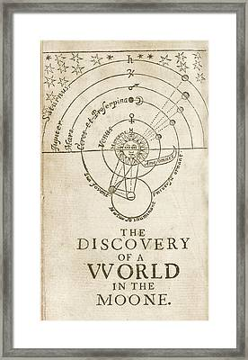 Discovery Of A World In The Moone (1638) Framed Print by Library Of Congress