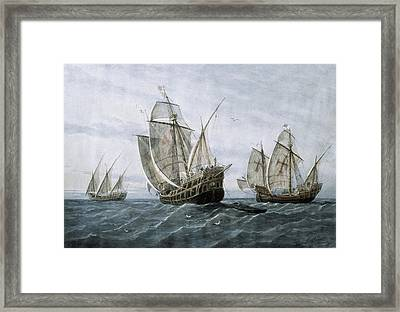 Discovery Of America 1492. The Caravels Framed Print by Everett