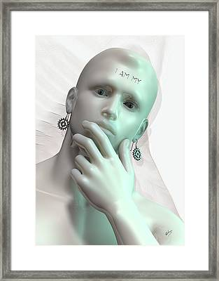 Artificial Intelligence Framed Print by Quim Abella