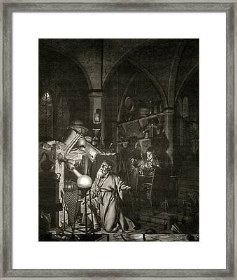 Discovery Of Phosphorus, 17th Century Framed Print by Science Photo Library