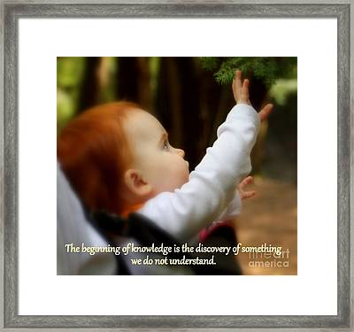 Discovery Framed Print by Patti Whitten