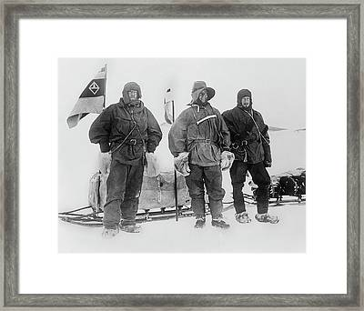 Discovery Polar Party Framed Print by Scott Polar Research Institute