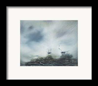 Fog At Sea Framed Prints