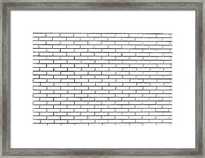 Disegno Di Un Muro Di Mattoni Framed Print
