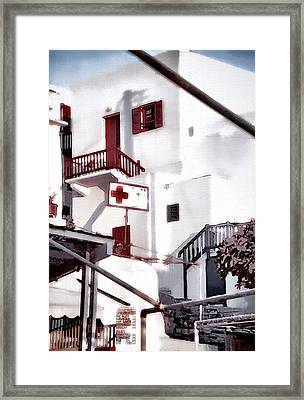 Disembarkation In Mykonos Framed Print by Barbara D Richards