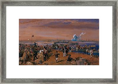 Disembarkation - Kerch, 24 May 1855 Framed Print by William 'Crimea' Simpson