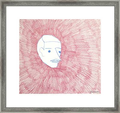 Disembodied On Pink Framed Print by Suzanne Stockhausen