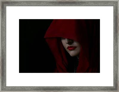 Disguised In Red Framed Print