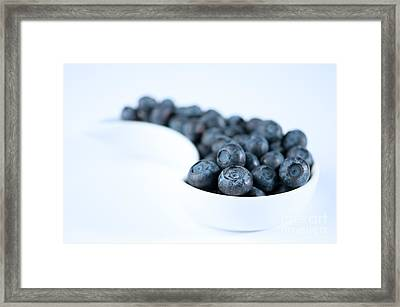 Dish Of Blueberries Framed Print