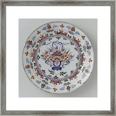 Dish Polychrome Faience, Anonymous Framed Print by Quint Lox