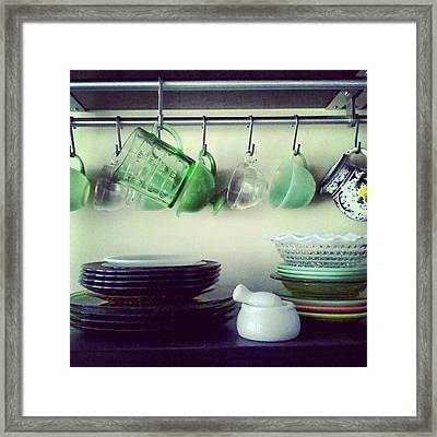 Dishes A Still Life Framed Print by Jill Tuinier