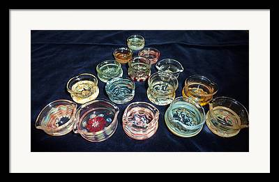 Heady Glass Dishes Framed Prints