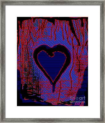 Framed Print featuring the painting Disintegration by Roz Abellera Art