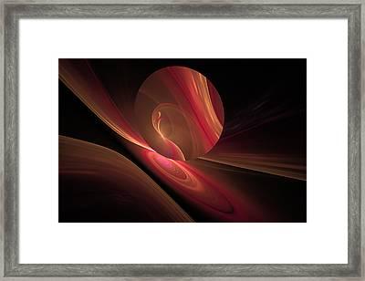 Disk Swirls Framed Print