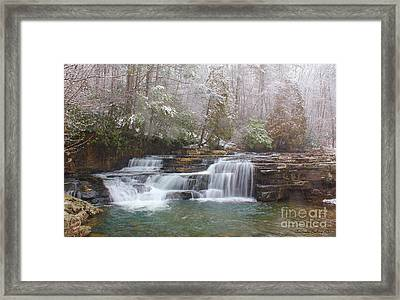Framed Print featuring the photograph Dismal Falls In Winter by Laurinda Bowling