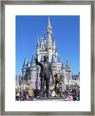 Disney And Mickey Framed Print