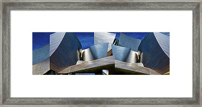 Disney Concert Hall-montage (color Version) Framed Print