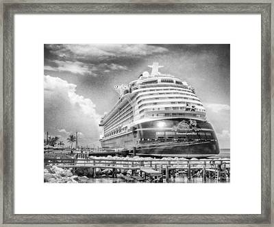 Framed Print featuring the photograph Disney Fantasy by Howard Salmon