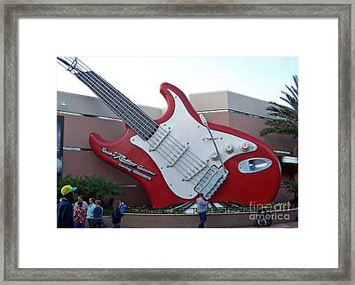 Disney Guitar Framed Print