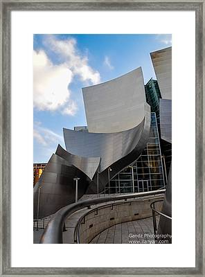 Framed Print featuring the photograph Disney Hall by Gandz Photography