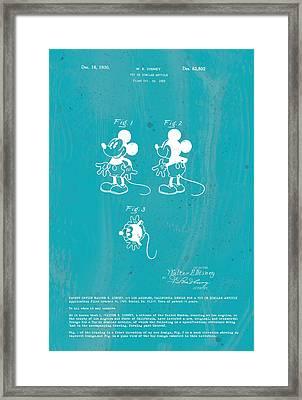 Disney Mickey Mouse Framed Print by Marlene Watson