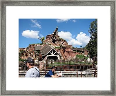 Disneyland Park Anaheim - 121218 Framed Print by DC Photographer