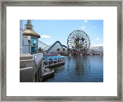 Disneyland Park Anaheim - 121253 Framed Print by DC Photographer