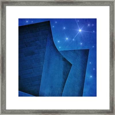 #disneytheater #theater #disney #night Framed Print