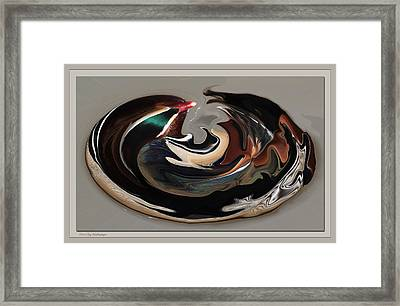 Disoriented Duck  Framed Print by Lucy VanSwearingen