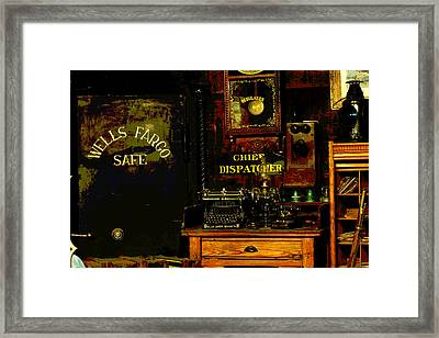 Dispatcher's Office Framed Print
