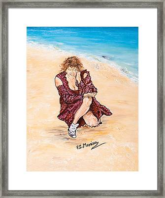 Framed Print featuring the painting Disperazione by Loredana Messina