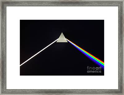 Dispersion Of White Light Framed Print by GIPhotoStock