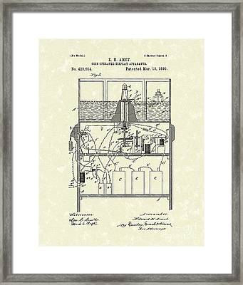 Display Apparatus 1890 Patent Art Framed Print by Prior Art Design