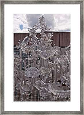 Display Of Glass Art Framed Print