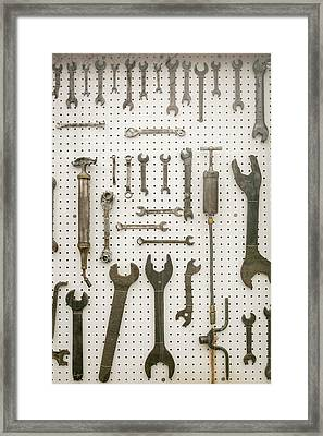 Display Of Old Tools, Joliet, Illinois Framed Print by Julien Mcroberts