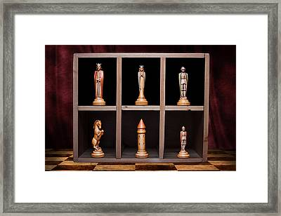 Display Of Strength Still Life Chess Framed Print by Tom Mc Nemar