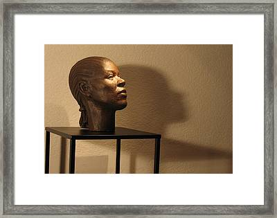 Display Sculpture - 2 Framed Print by Flow Fitzgerald