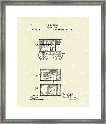 Display Wagon 1884 Patent Art Framed Print