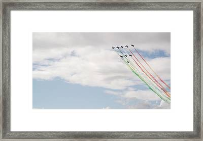 Displaying The Flag Framed Print by Tracey Williams